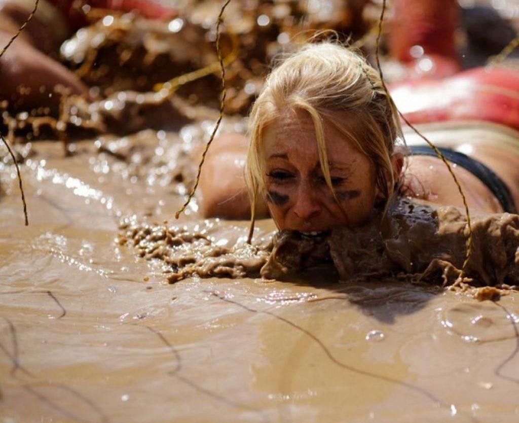 Girls eating mud